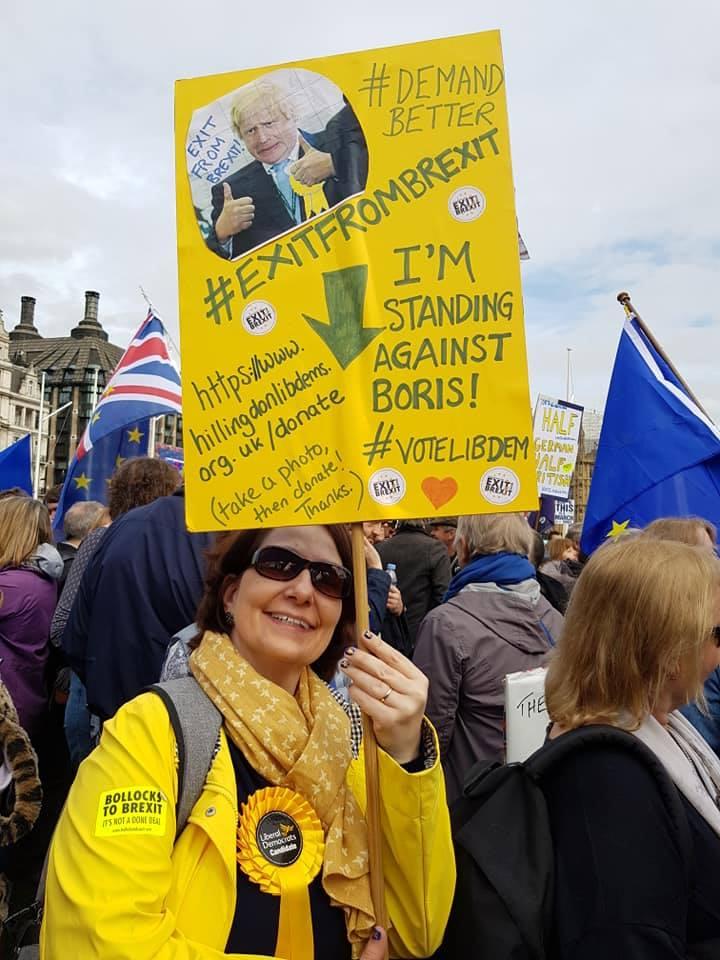 Dr Elizabeth Evenden-Kenyon at the People's Vote March! #PutItToThePeople, 23 March 2019